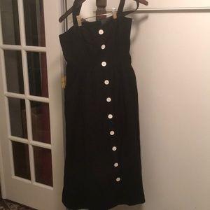 Anthropologie Maeve Black Midi Sleeveless Dress 14